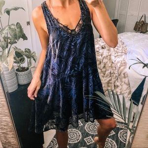 Free People eclectic velvet studded dress